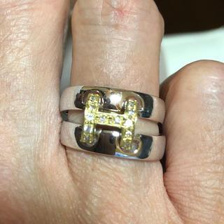 ホワイトゴールド k18 コンビリング(リング(指輪))