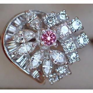 w様専用です。fancy vivid purplish pink ピンクダイヤ(リング(指輪))
