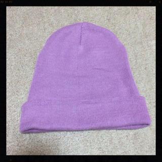 ウィゴー(WEGO)のWEGO ラベンダーニット帽(ニット帽/ビーニー)