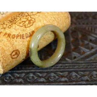 J402 780円 ヒスイ翡翠リング指輪 9号 ジェイド ティーグリーン(リング(指輪))