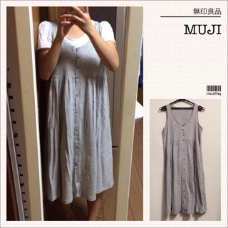 ムジルシリョウヒン(MUJI (無印良品))の無印良品♡新品ワンピース&フリルTシャツ(ひざ丈ワンピース)