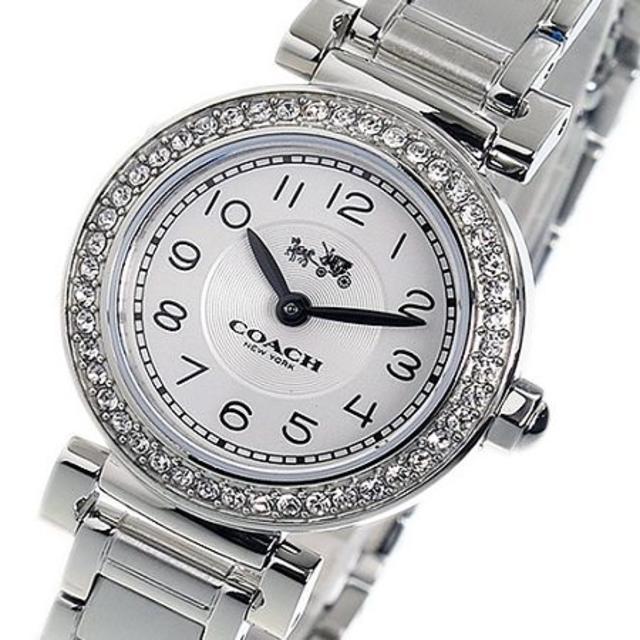 c35ff65b4e53 COACH(コーチ)のCOACHコーチ腕時計マディソン銀シルバークォーツレディース女丸型