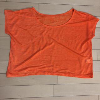 ジーユー(GU)のGU オレンジ Tシャツ L(Tシャツ(半袖/袖なし))