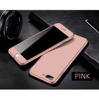 TA341 メタリックフルカバー iphone8 7 ガラスフィルム付ピンク(キーホルダー)