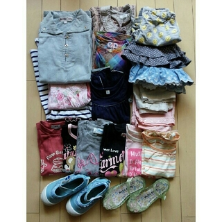 ギャップ(GAP)の女の子夏服 20点+靴2点 まとめ売り 100~110(Tシャツ/カットソー)