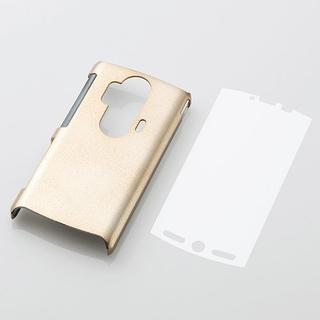 エレコム(ELECOM)のdocomo AQUOS PHONE(SH-12C)用シェルカバー ゴールド(Androidケース)