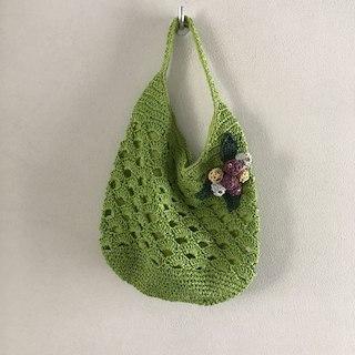 ムジルシリョウヒン(MUJI (無印良品))のグリーンの夏用編みバック(その他)