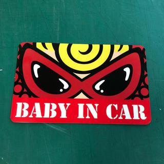 ヒステリックミニ(HYSTERIC MINI)のヒステリックミニ Baby in car マグネット ステッカー(車外アクセサリ)