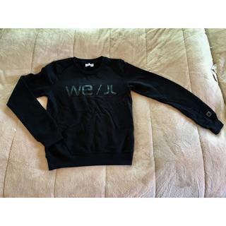 ウィーエスシー(WeSC)のwesc トレーナー ブラック S(トレーナー/スウェット)