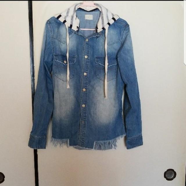 Ungrid(アングリッド)のアングリットフード付きデニムシャツ レディースのトップス(シャツ/ブラウス(長袖/七分))の商品写真