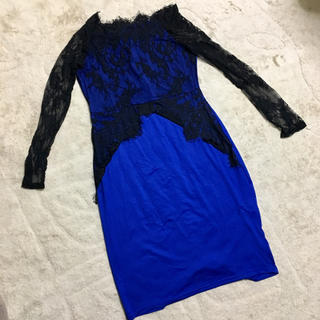 ★ブルー★ワンピース ドレス★(ひざ丈ワンピース)