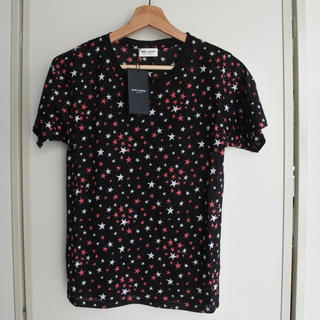 サンローラン(Saint Laurent)のサンローランパリ Tシャツ ブラック S マルチ タグ付き レディース 半袖 (Tシャツ(半袖/袖なし))
