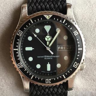 セイコー(SEIKO)のセイコー   アルバ  ブラック  ダイバー(腕時計(アナログ))