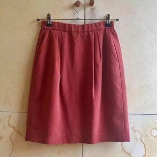 フレディ(fredy)のフレディ レンガ色スカート(ひざ丈スカート)