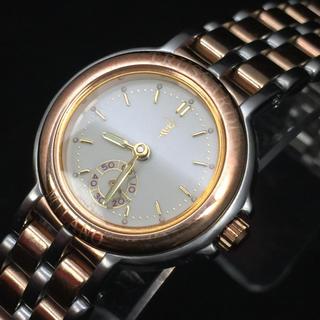 トラサルディ(Trussardi)のトラサルディ レディースクォーツ コンビカラー スモールセコンド デットストック(腕時計)