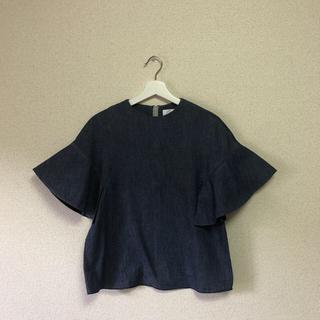 ルシェルブルー(LE CIEL BLEU)のデニムシャツ フレア袖(シャツ/ブラウス(長袖/七分))