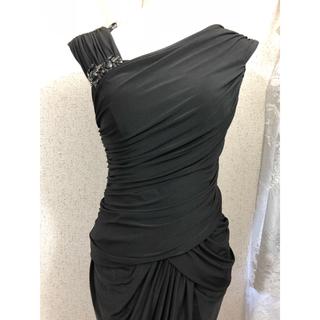 34efef926ab70 タダシショウジ(TADASHI SHOJI)の新品 Tadashi Shoji 膝丈ワンピース ドレス ブラック ビジュー