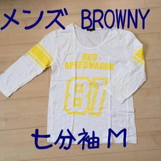 ブラウニー(BROWNY)のメンズ BROWNY 七分袖シャツ M(Tシャツ/カットソー(七分/長袖))