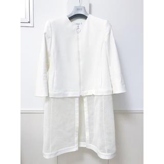 アクリス(AKRIS)のAKRIS PUNTO スプリングコート (white) US10(スプリングコート)