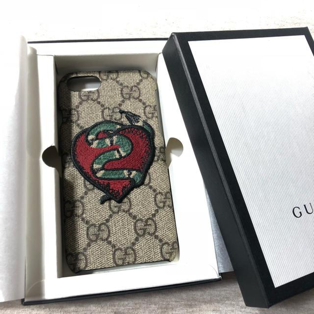 Gucci - 美品!GUCCI iPhone7ケース 確実正規品 箱付き ヘビ ハートの通販 by セット購入お値引き!roLa shop|グッチならラクマ