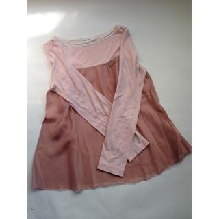 サカイラック(sacai luck)のサカイラック カットソー Tシャツ ブラウス☺︎ ピンク ニット(カットソー(長袖/七分))
