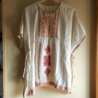 ナバアサナ(navasana)のアメリカンラグシー navasana 刺繍 チュニック(チュニック)