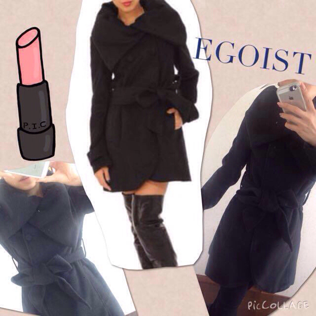 EGOIST(エゴイスト)のEGOIST♡黒コート値下げ! レディースのジャケット/アウター(ピーコート)の商品写真