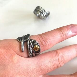 (360) かっこいいチタンステンレス製 フェザーリング(リング(指輪))