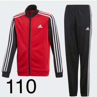 ba110f77171924 adidas - 110 アディダス ジャージ セットアップ 赤 上下の通販 by p ...