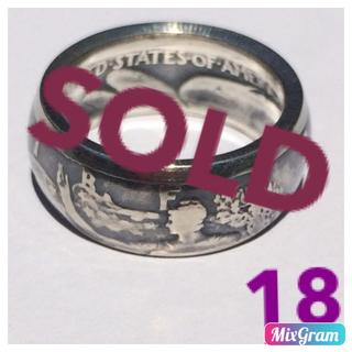 アメリカウォーキングリバティハーフダラーリング 指輪  1942年   18号(リング(指輪))