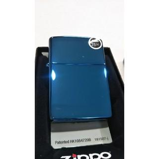 ジッポー(ZIPPO)のZIPPO ジッポーライター サファイアブルー レギュラー 青 20446(タバコグッズ)