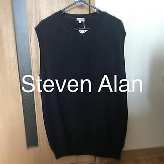 スティーブンアラン(steven alan)のSteven Alan ニットベスト ネイビー(ベスト)