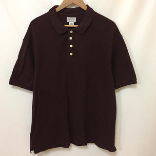 アリゾナ(ARIZONA)のARIZONA アリゾナ 4つボタン カノコ ポロシャツ えんじ L(ポロシャツ)