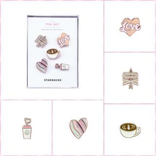 スターバックスコーヒー(Starbucks Coffee)の♡ 2018 バレンタイン ピンバッチ ♡ 海外 韓国 スタバ ハート 即完売(バッジ/ピンバッジ)