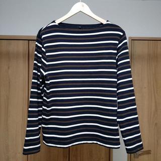 ムジルシリョウヒン(MUJI (無印良品))の美品 無印良品 バスクシャツ メンズM クリーニング済み 送料込み(Tシャツ/カットソー(七分/長袖))