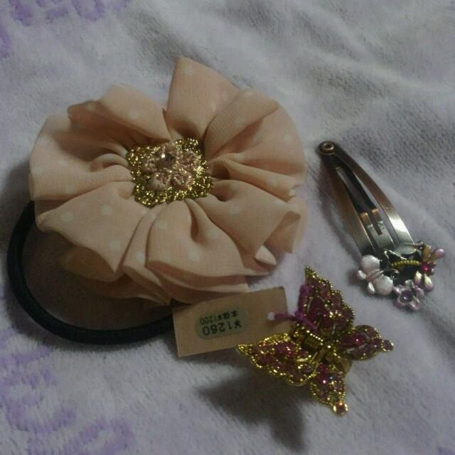 かわいい♡ピンクヘアアクセ詰め合わせ♡ レディースのヘアアクセサリー(ヘアゴム/シュシュ)の商品写真