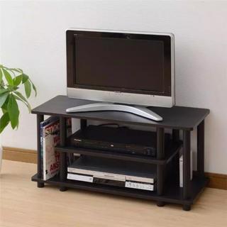 【お買い得品】組み立て楽々♪選ばれるテレビ台 幅80 ダークブラウン(棚/ラック/タンス)
