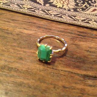 アダムエロぺ(Adam et Rope')のグリーンの指輪(リング(指輪))