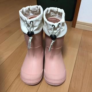 ムジルシリョウヒン(MUJI (無印良品))の無印良品 子供用 長靴 レインブーツ 17〜18cm(長靴/レインシューズ)