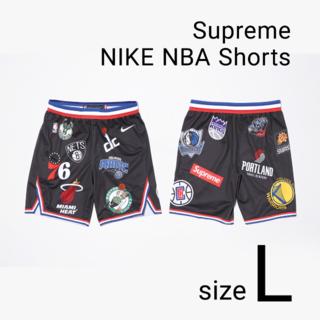 シュプリーム(Supreme)の黒 L Supreme x Nike x NBA Authentic Short(ショートパンツ)