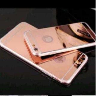 TA198 送料無料♪ミラー加工超薄型iphoneケース6/6s ピンク(キーホルダー)