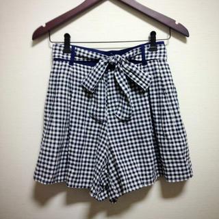ローリーズファーム(LOWRYS FARM)の美品*LOWRYSチェックリボンスカート(ミニスカート)
