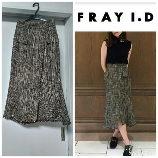 フレイアイディー(FRAY I.D)のフレイアイディー ロングタイトスカート(ロングスカート)