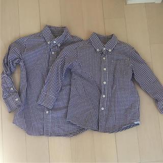 ムジルシリョウヒン(MUJI (無印良品))のギンガムチェック シャツ 2枚セット 3歳 5歳 兄弟 おそろい(ブラウス)