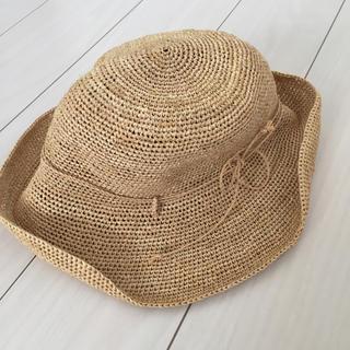 ムジルシリョウヒン(MUJI (無印良品))のラフィア帽子(麦わら帽子/ストローハット)
