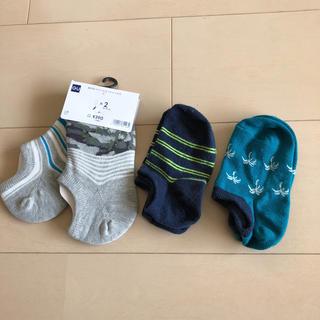 ジーユー(GU)のキッズ ⭐️ ソックス16〜21cm4足セット(靴下/タイツ)