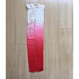 ツモリチサト(TSUMORI CHISATO)のTSUMORI CHISATO タイツ グラデーション エビ柄(タイツ/ストッキング)