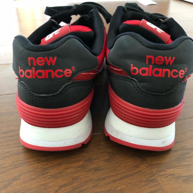 89baef82d4a052 New Balance(ニューバランス)のニューバランス24センチ赤×黒ほぼ新品 レディースの