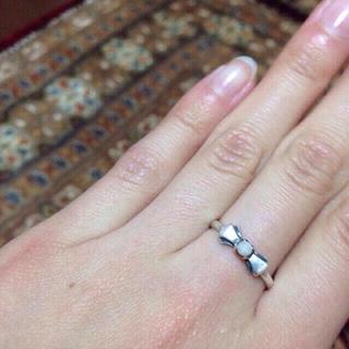 ヨンドシー(4℃)のシルバー925/リボンリング(リング(指輪))