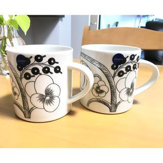 アラビア(ARABIA)の新品 アラビア ブラックパラティッシ マグカップ(グラス/カップ)